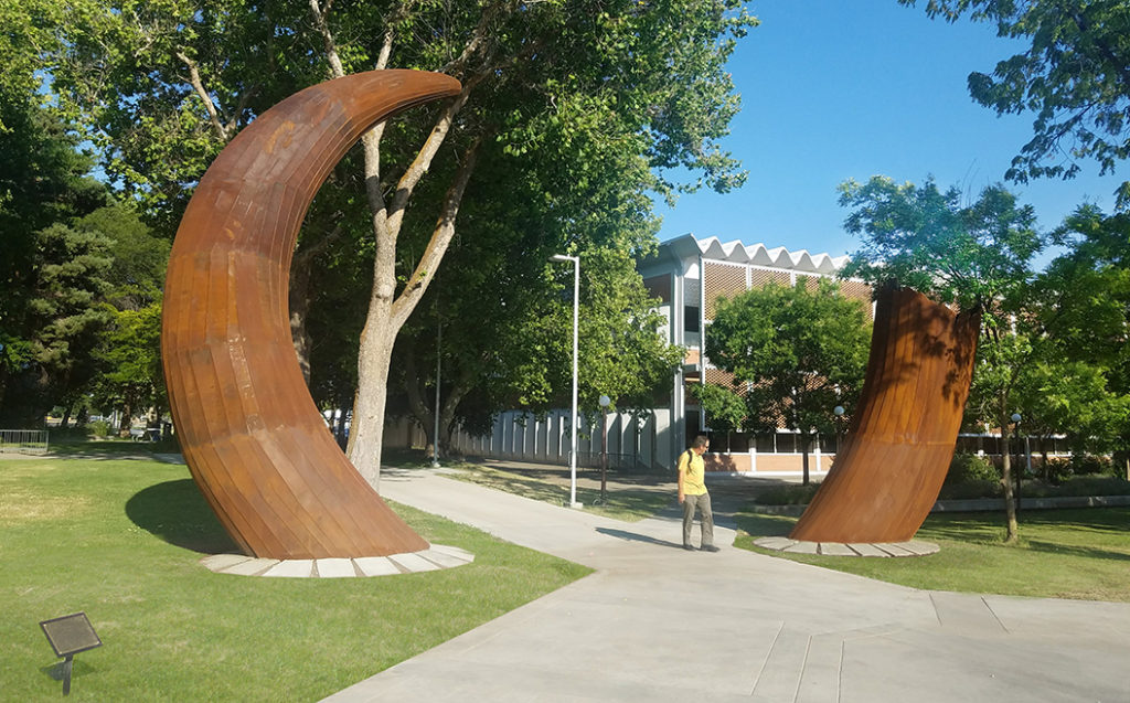"""""""Mammoth"""" by Ilan Averbuch, 2018. Located at Central Washington University, Ellensburg. Photo courtesy of the artist. Part of Washington's State Art Collection."""