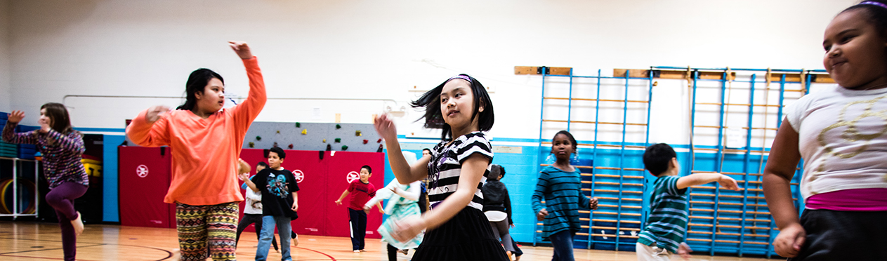 Elementary Students Dancing