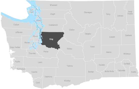 King County Washington Map