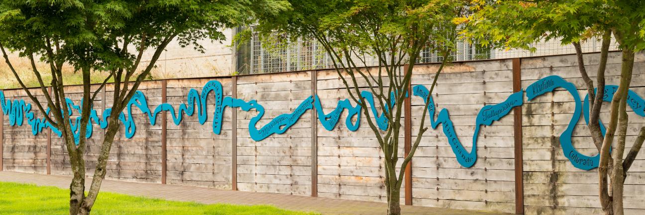 An outdoor artwork at the University of Washington Tacoma.