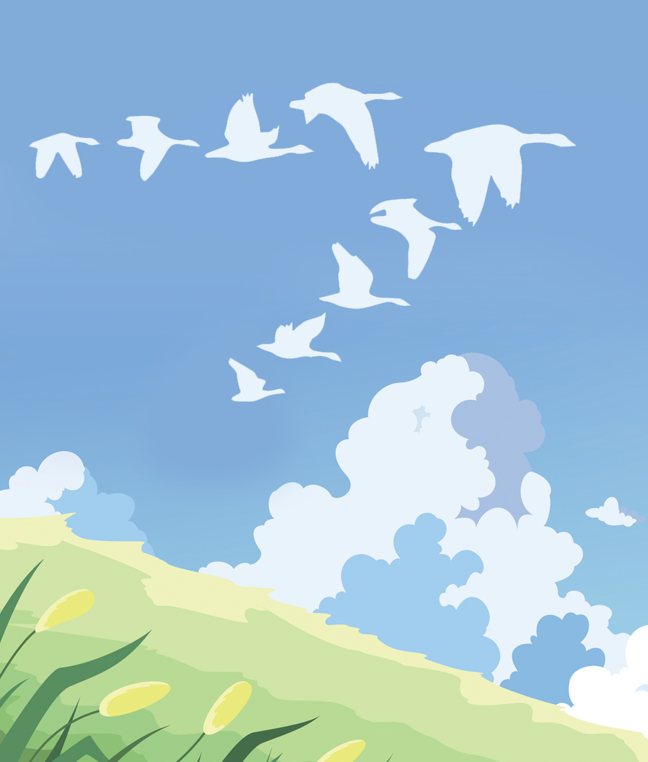 graphic of geese flying